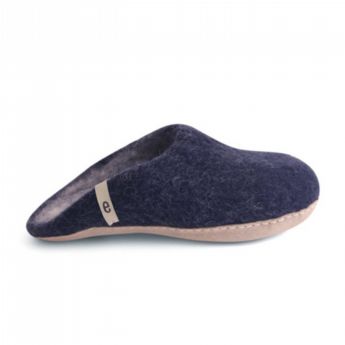 Men's Wool Slippers - Blue